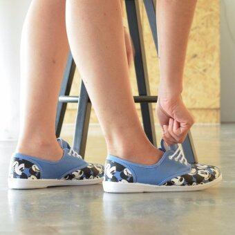 Disneyรองเท้าผู้หญิง ผ้าใบ NORTH STAR CLASSIC MICKEYสีฟ้า รหัส 5299619