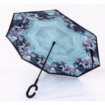 Reverse Umbrella ร่มหุบกลับด้านมือจับตัว C( swan lake)