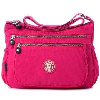 RICHCOCO กระเป๋าสะพาย เนื้อผ้าไนลอนกันน้ำ Waterproof Nylon Handbag Shoulder (Hot Pink)