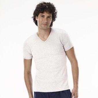 Sanremo แซนรีโม เสื้อแขนสั้นคอวี Double Hygienic รุ่น NIS-SCD2-WH สีขาว
