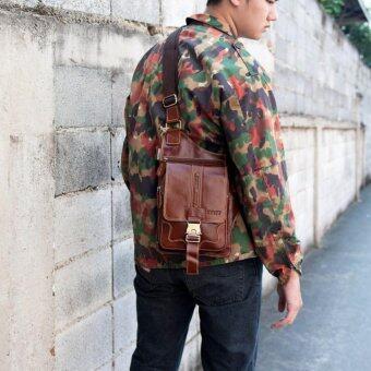 SAPA กระเป๋าสะพายข้างหนังแท้ สำหรับเก็บปืนพกสั้น เหมาะสำหรับผู้ชาย SB04-2