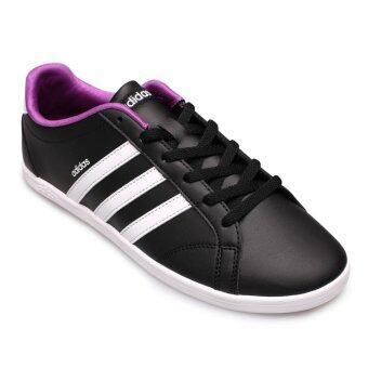 ADIDAS WOMEN รองเท้าผ้าใบ ผู้หญิง รุ่น VS CONEO QT W - B74551 (CBLACK/FTWWHT/MSILVE)