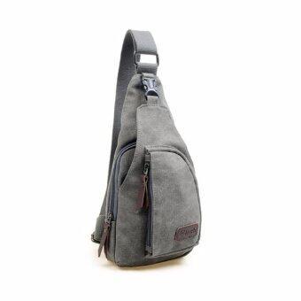 Osaka กระเป๋าสะพายไหล่ผู้ชาย คาดอก รุ่น NK307 - สีเทา