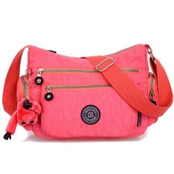 RICHCOCO กระเป๋าสะพาย เนื้อผ้าไนลอนกันน้ำ Waterproof Nylon Crossbody Handbag (Pink)