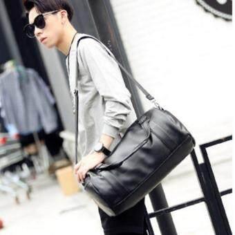 Osaka รุ่น NE64 กระเป๋าถือหรือสะพายไหล่ผู้ชาย หรือถือ หนัง PU - สีดำ