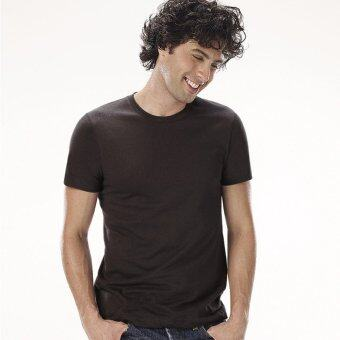 Sanremo แซนรีโม เสื้อแขนสั้นคอกลม Combed Cotton รุ่น NIS-SCA1-BL สีดำ