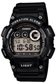 Casio Standard นาฬิกาข้อมือผู้ชาย สีดำ สายเรซิ่น รุ่น W-735H-1AVDF