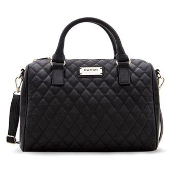 Mango Quilted Bowling Bag Black