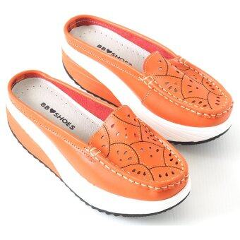 Fitness Mules Soft Comfort BB903 สีส้ม (ฺORANGE) รองเท้าลำลองพื้นยางเพื่อสุขภาพ