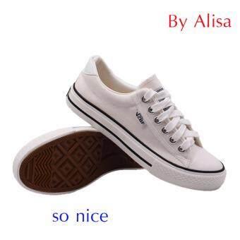 Alisa Shoes รองเท้าผ้าใบสปอร์ต รุ่น A888 White
