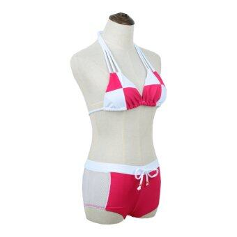 Bikini สายคล้องคอ 2ชิ้น ชุดว่ายน้ำเซ็กซี่ สำหรับผู้หญิง