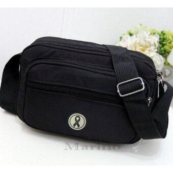 Marino กระเป๋า กระเป๋าสะพาย กระเป๋าสะพายผู้หญิงสีดำ ไว้อาลัย No.0194 - All Black