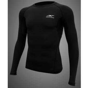 Spandex เสื้อรัดกล้ามเนื้อแขนยาว สีดำ