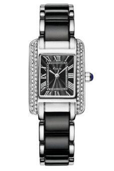 Kimio นาฬิกาข้อมือผู้หญิง สีดำ/เงิน สาย Alloy รุ่น KW6036
