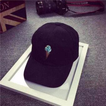 หญิงชายอักษรสีดำหมวกฮิปฮอบ Kpop Strapback โค้งหมวกเบสบอลปรับได้