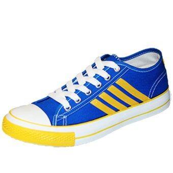 Gold city รองเท้าผ้าใบแฟชั่น โกลด์ซิตี้ Super Zapp The Star 1268 สีน้ำเงิน/เหลือ