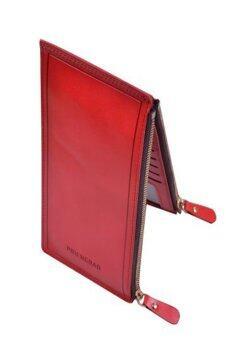 PIDENGBAD กระเป๋าใส่บัตรซิปคู่สไตล์เกาหลี รุ่น P839-3 (สีแดง)