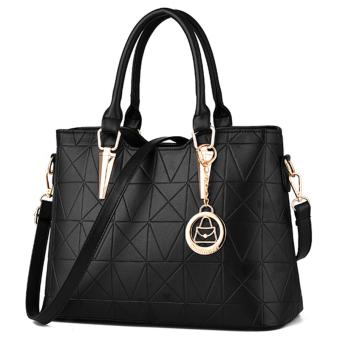 Little Bag กระเป๋าถือ พร้อมสายสะพาย กระเป๋าสะพาย แบบมีหูหิ้ว รุ่น LB-035 (สีดำ)