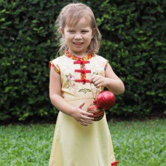 Princess of Asia ชุดเดรสเด็กผู้หญิง ชุดเดรสทรงจีน (สีเหลือง)