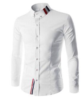 Reverieuomo CS41 เดี่ยวกระดุมเสื้อเชิ้ต (ขาว)