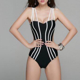 0e4a0c9051 Venus queen Women s Contrast Color Vintage Push-Up Bra Sexy Plus Size High  Waist Summer Neoprene Bikini Set Swimsuit Swimwear Beachwear