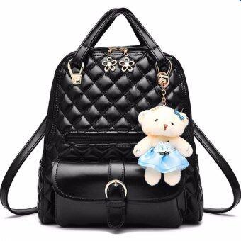 meet กระเป๋า กระเป๋าสะพายข้างสีดำ สำหรับผู้หญิง สีดำ