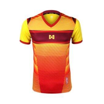 WARRIX SPORT เสื้อฟุตบอลพิมพ์ลาย WA-1541 (สีเหลือง)
