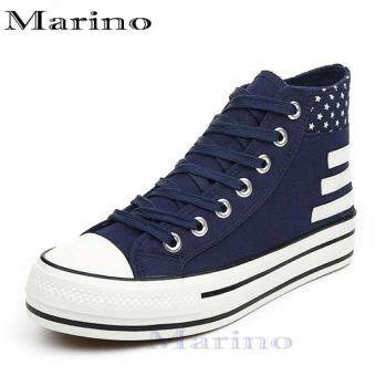 Marino รองเท้าผ้าใบผู้หญิงหุ้มข้อ รุ่น A003 - สีน้ำเงิน