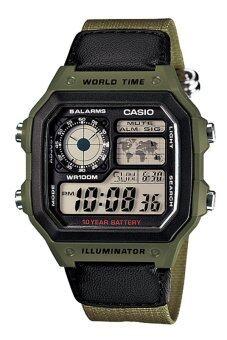Casio Standard นาฬิกาข้อมือ สายหนัง รุ่น AE-1200WHB-3B - Green
