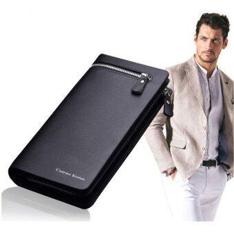 MATTEO กระเป๋าเงินยาว กระเป๋าโทรศัพท์ CureweKerien (Black)