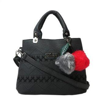 กระเป๋าถือ กระเป๋าสะพาย ผู้หญิง รหัส.69187 (สีดำ)