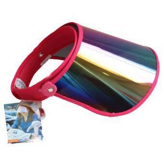 VPV หมวกกันแดด กัน UV สีชมพู