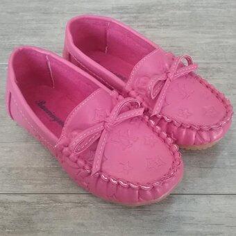 Alice Shoe รองเท้าเด็ก Loafer แฟชั่นเด็กผู้หญิง รุ่น LF002-DP (สีชมพู)