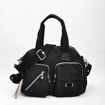 กระเป๋าแฟชั่นแบบผ้าไนลอนกระเป๋าสะพายสตรี (สีดำ)