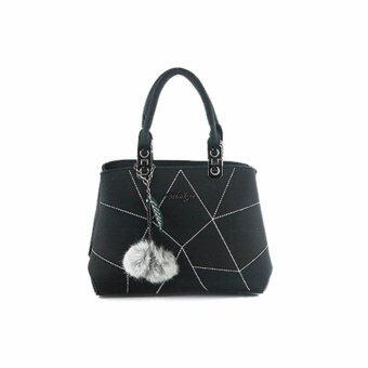 กระเป๋าถือ กระเป๋าสะพาย ผู้หญิง รหัส.1112 (สีดำ)