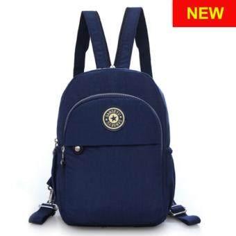 RICHCOCO กระเป๋าเป้สะพายหลัง Nylon leisure Backpack (K01-new Navy)