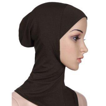 นิวแฟชั่นหมวกครอบแบบอิสลามที่มุสลิมโพกฮิญาบภายในจิตใจ Beanies Underscarf นินจาฮิญาบกาแฟ