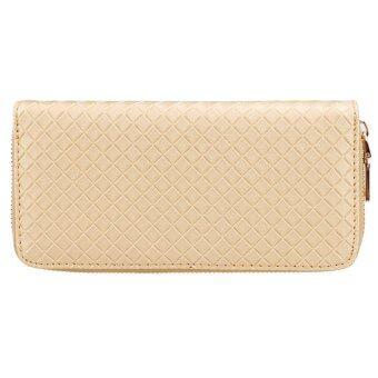 สารสนเทศใหม่ที่เก็บบัตรในกระเป๋าคลัตช์แบบผู้หญิงกระเป๋าถือกระเป๋าสตางค์กระเป๋า (ทอง)