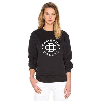 Harga New Black Lady Sweater Cameron Dallas Letter Print Long Sleeve Top - intl