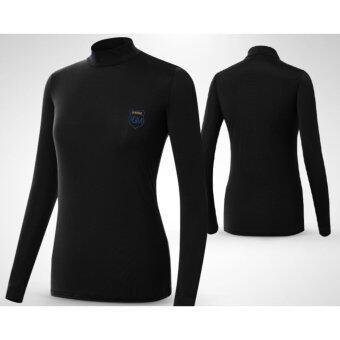 EXCEED เสื้อกอล์ฟผู้หญิงแขนยาว สีดำ YF033 PGM LADY GOLF SHIRT ( BLACK )