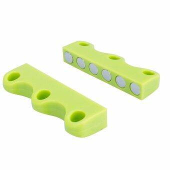 แม่เหล็กผูกเชือกรองเท้า Lazy Shoelace Closure (สีเขียว)