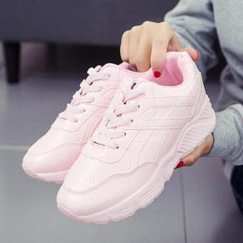 Sharni รองเท้าผ้าใบสไตล์เกาหลีทรง Sport Girl รุ่น SNV05 (สีชมพู)