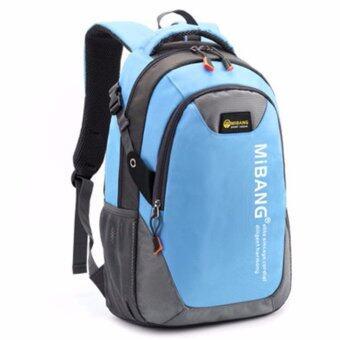 Peimm Modello Backpack 43 Cm.MiB กระเป๋าเป้สะพายหลัง กันน้ำ สไตส์เกาหลี (สีฟ้า)
