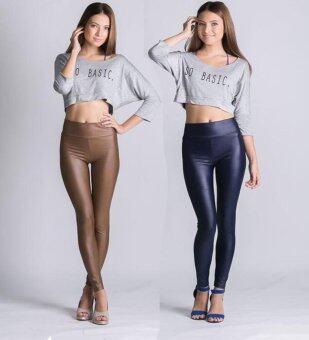 PBx- เช็ต2ตัว กางเกงเลกกิ้งแบบเอวสูง (สีนู๊ต / สีน้ำเงิน)