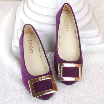 D71 หญิงขายรองเท้าแฟลตร้อน 20 สีหนังสีรองเท้าลำลองสาวตุ๊กตา-ระหว่างประเทศ