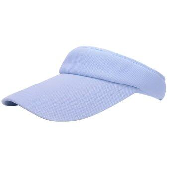 เพศชายดวงแข็งกีฬาเทนนิสหมวก cap หมวกธรรมดาปรับได้ท้องฟ้าสีคราม (ในประเทศ)