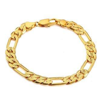 TANITTgems สร้อยข้อมือทองแบบเส้นแบน สำหรับผู้ชาย รุ่น BG70531 (Gold)