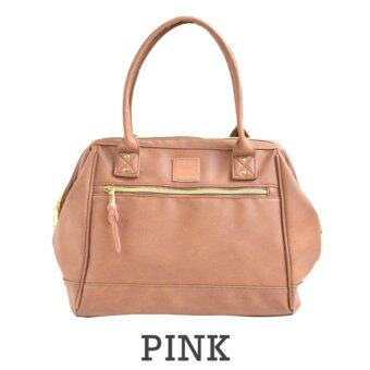 Harga Anello Boston Shoulder Leather Tote Bag (Pink)