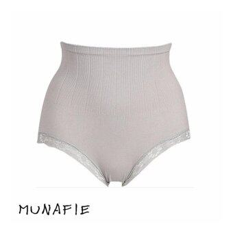 MUNAFIE JAPAN กางเกงในกระชับสัดส่วน กางเกงในเก็บพุง (สีเทา) 1pcs
