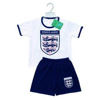 Periquita ไซส์ 1-7 ปี เซ็ต 2 ชิ้น ชุดกีฬาเด็ก ชุดฟุตบอลเด็ก ทีมชาติอังกฤษ สีขาว